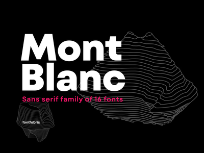 A new type giant is here! Introducing Mont Blanc ✨ type family text font editorial design motion graphics motion design graphic design variable fonts fonts font family sans serif typeface sans serif sans serif font type design font design type typeface font fontfabric typography