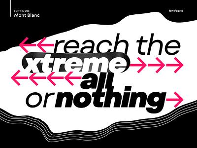 Taking Mont Blanc to extremes publishing ux design ui design uiux editorial design web design graphic design glyphs legibility new fonts sans serif font sans serif type family font family font face type typeface font fontfabric typography