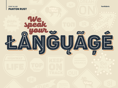 And we're fluent type typeface font fontfabric typography