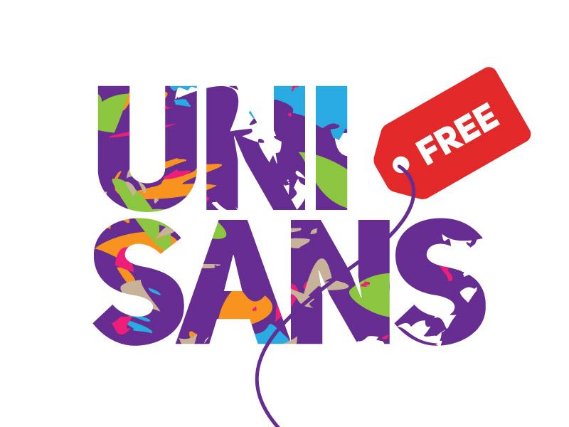 Uni Sans Free free typography poster logo numerals decorative free font free fonts uni sans