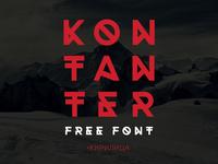Kontanter free font