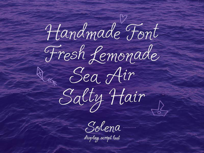 Solena Script FREE solena script free font script free headline poster font nexa typography