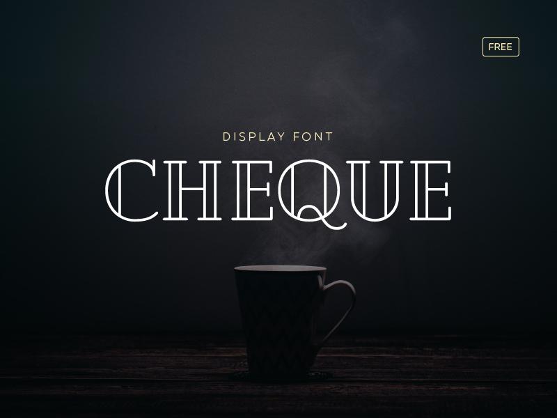 Cheque Free cheque free cheque free typography free font font typography free