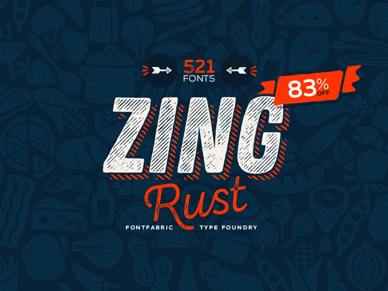 Zing Rust Bundle typeface bundle free font font new zing rust zing fontfabric