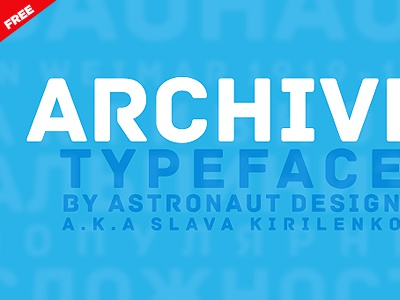 Archive - Free font free typography blue logo archive typeface design free font free typeface