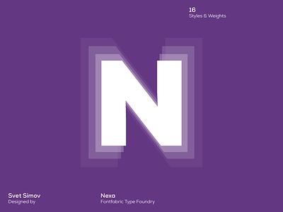 Nexa art creative fontfabric font typography typeface type nexa