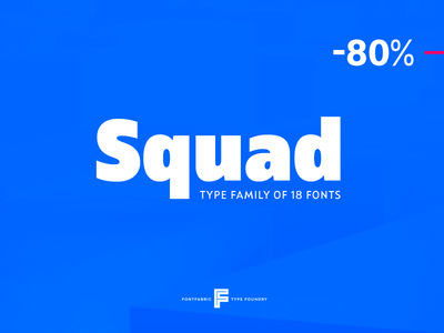 Squad™ newfont release typography typeface type motion lettering letter fontfabric font