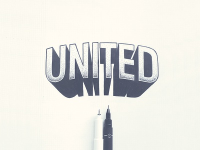 United sketch illustration lettering creative typography typeface type fontfabric font