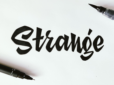 Strange typography typeface type sketch lettering illustration fontfabric font creative