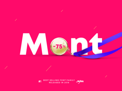 #1 Best Selling Font Family for 2018 on MyFonts