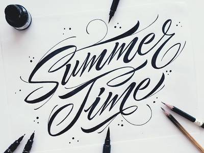 Head in the clouds, toes in the sand ⛱️🌞 letter illustration caligraphy lettering typography typeface type design fontfabric font