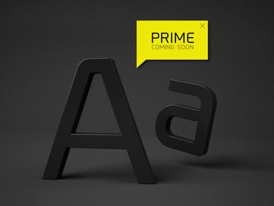 Prime™ 02 font typography promo fonts bolt poster logo graphic image cool vector black fat logotype light lightning prime