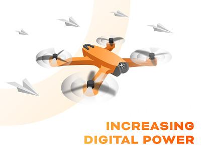 Increasing Digital Power tech technology solutionchamps art ui ux designer vector branding web designer abishekshivan illustration