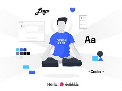 Hello! from SolutionChamps website solutionchamps typography logo illustration web designer ux branding ui designer
