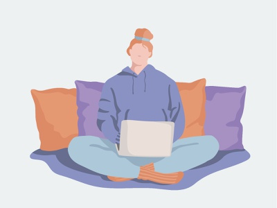 Working From Home illustration work from home quarantine stay home remote work wfh working from home