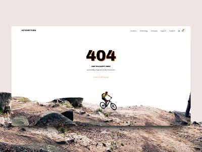 404 page design for a biking company web design ux biking bike 404 agency design