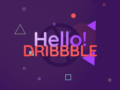 Hello Dribbble fun welcome agency sajtic dribbble hello