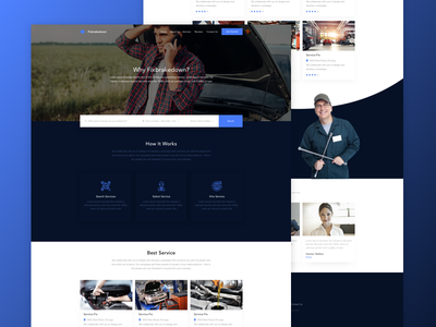 Fixbreakdown - Home Page find simple vehicles service sketch design homepage usa aplication ux ui