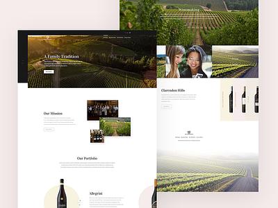 Winery website homepage design webdesign web design website design website wine winery ux ui clean design