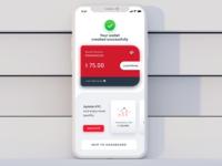 Wallet Success Screen billpayments mobile payments fintech app mobile banking app satwik pachino satwik pachineela ewallet mobile banking financial app wallet app