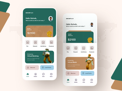 Mobile Wallet Home Page Exploration money app latest wallet app banking dashboard wallets satwik pachino deopay exploration digital currency paymentsapp fintechapp homepage design wallet2.0 banking2.0 bankingapp wallet ui mobilewallet2020 financeapp homepage wallet