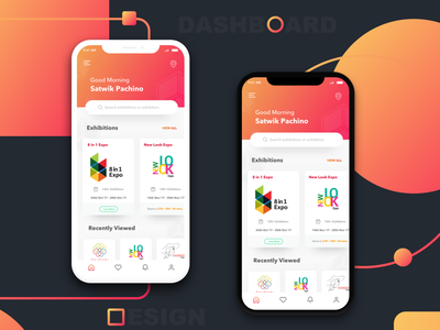 Dashboard design - My First shot hello dribbble first shot uiux design design gradients iphonex dashboard mobile