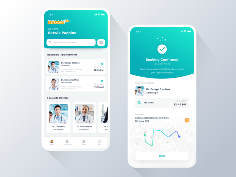 Doctor App - Appointment Booking by Satwik Pachino on Dribbble