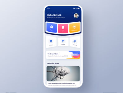 Payments App - Home
