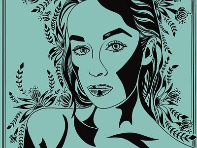 Heroine digital illustration branding illustration design