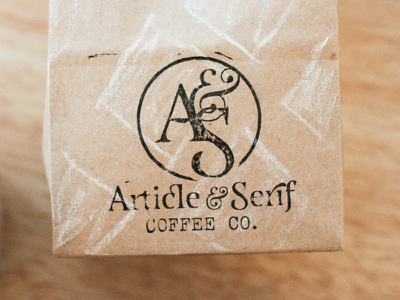 Article & Serif Logo logo coffee coffeebag stamp