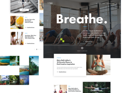 Homepage community design ui interface user blog