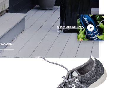 allbirds WIP shoes commerce shop user interface ui design web