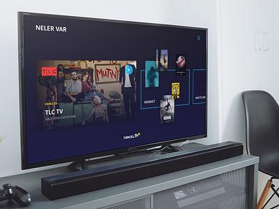 tvOS HUB ui design interface user tv tvos
