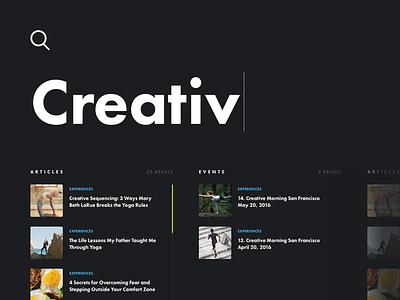 Search Screen interface ui design web search
