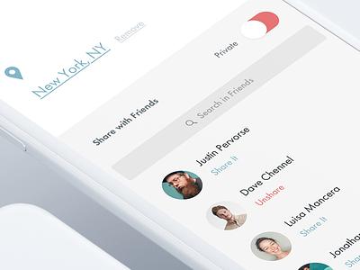 Create Album Flow application ios mobile interface ui design