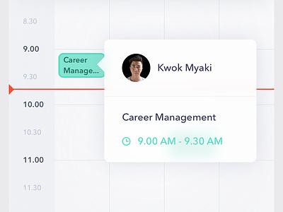 Agenda application mobile design interface ui app ios thrive