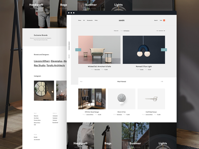 Sanvark Homepage simple webdesign landing commerce web user interface ui design furniture