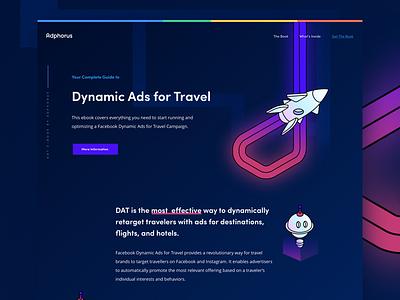 eBook Page neon dark interface ui design web page landing book
