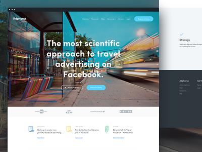 Ad - Landing Page web ui user interface design page landing