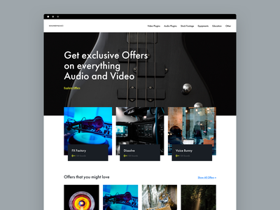 Soundpass Homepage commerce user web interface ui design