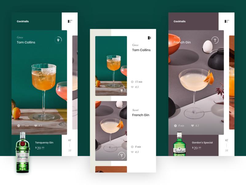 Cocktail Recipes iphone ios app mobile ui interface design