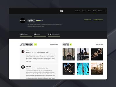 Studio Profile design ui interface user web