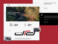 DRD Homepage design ui interface user web