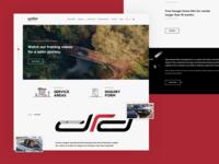DRD Homepage design ui interface user web