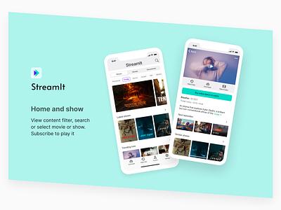Stream it for iOS design uidesign flat trendy ui dailyui ui design uiux minimal figma