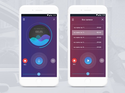 voice radio app interface design adobe xd design ui