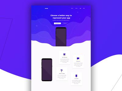 PSD Template ux corporate brochure apps design banner typography vector ui branding logo design uidesign psd template