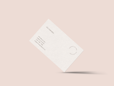 Ceremony Clay Haus Business Card