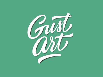Gust Art Final version logo lettering logotype typography green