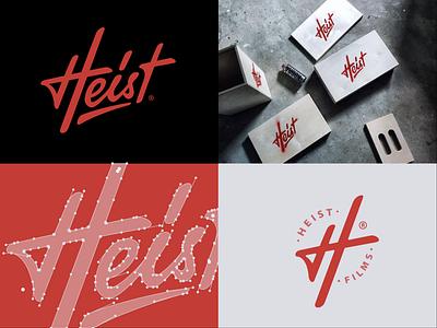 Branding for Heist Films graphic design word mark typography logo type logo mark logo lettering branding brand design brand identity brand
